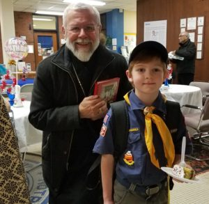Bishop with MSMA Boy Scout